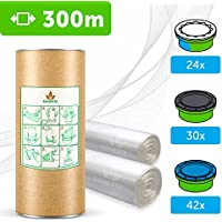 300 M - ECO Recarga compatible Sangenic Tommee Tippee | Angelcare para pañales | equivalente 24 cajitas Sangenic | 42 Angelcare | Producido en Europa + rollo de cartón para rellenar fácil
