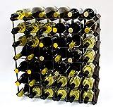 Cranville wine racks Madera Classic 42 Botella de Roble Oscuro Manchado y galvanizado Estante del Vino del Metal ya montados