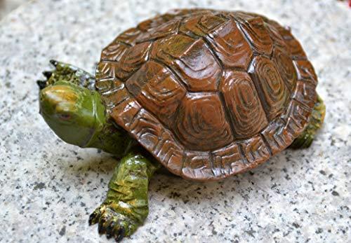 Maiso Schwimmschildkröte -Schildkröte für den Teich- robuste Ausführung-täuschend echte Ausführung,