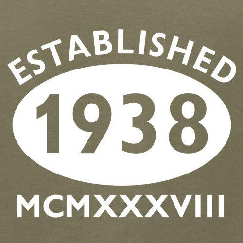 Gegründet 1938 Römische Ziffern - 79 Geburtstag - Herren T-Shirt - 13 Farben Khaki