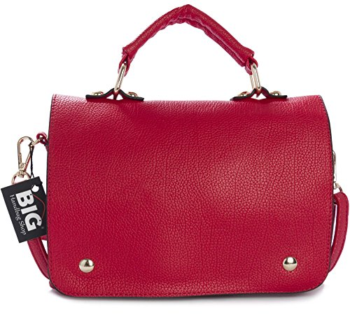 Big Handbag Shop - Borsa a tracolla donna (Red (LL295))