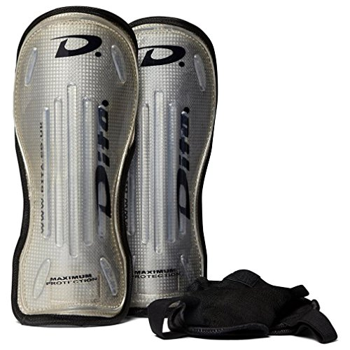 Dita Mega-5000 Hockey Shinguard, Gris, L Dita