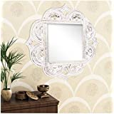 A.R Handicraft Decorative Mirror (Square Finish : Glossy) (Brown)