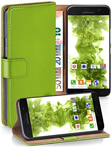moex® Booklet mit Flip Funktion [360 Grad Voll-Schutz] für Samsung Galaxy A5 (2017)   Geldfach und Kartenfach + Stand-Funktion und Magnet-Verschluss, Grün