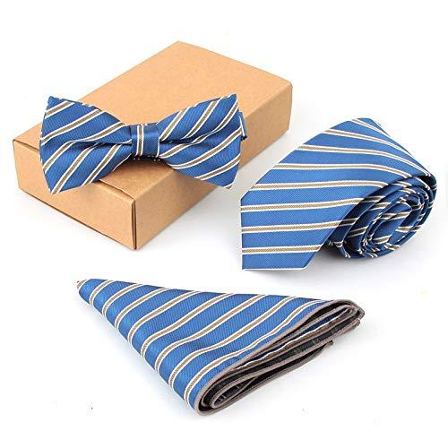ZHENZHIA Krawatte Neck Set BowHandkerchiefs Slim Männer BowBusiness Hochzeit
