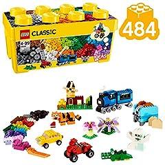 Idea Regalo - LEGO Classic Scatola Mattoncini Creativi Media per Liberare la Fantasia e Costruire Quello che Desideri, 35 Colori per Realizzare tutte le Tue Idee, per Bambini dai 4 Anni, 10696