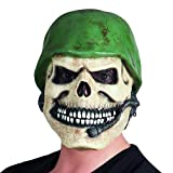 NET TOYS Antifaz Látex Soldado | Máscara Esqueleto Halloween | Careta...