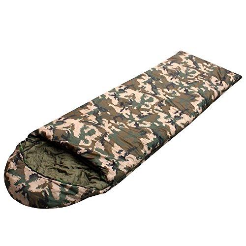 Max & Mix Camouflage Cool Wetter Umschlag Schlafsäcke mit Kompression Tasche, Komfort Wärme leicht tragbar, einfach zu Komprimieren für Survival, Camping, Wandern, Büro, Zuhause, Auto, etc.