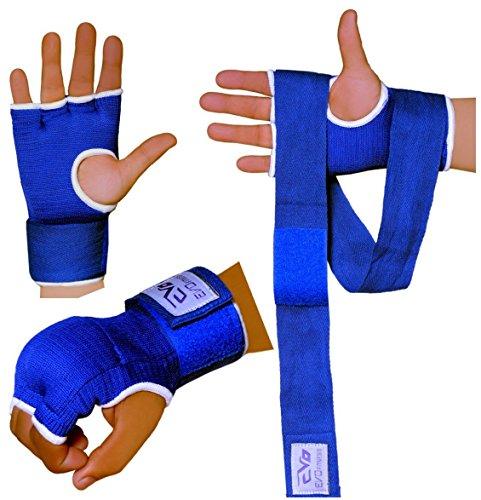 EVO Fitness Innen Handschuhe Elastisch Gelpolster Box Handschuhe Wraps MMA UFC - S/M (Ufc Gel Wrap)