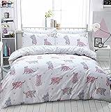 Luxury Animal Print Design Duvet Set Quilt Cover Bedding Single Double King Size[Cat Multi,Single]