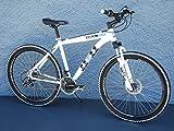 26 Zoll Alu MTB Cross Fahrrad Bike SHIMANO 24 Gang DISC SCHEIBENBREMSEN weiss