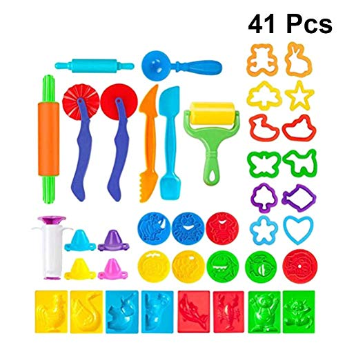 YeahiBaby Kit de cortadores de Herramientas de Masa 41PCS Moldes de Forma Animal para niños niños (Color Aleatorio)