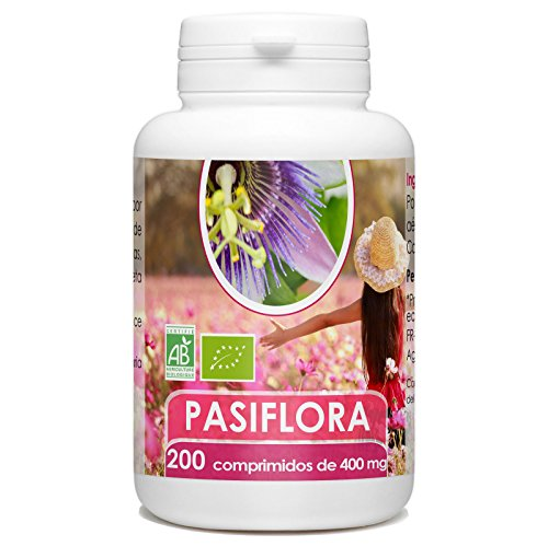 Passiflora Organica - 200 tabletas de 400 mg