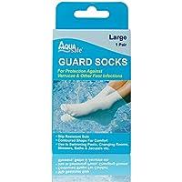 AquaSafe Verruca Guardia Calcetines para Natación – Grande – Talla 5.5 – 8