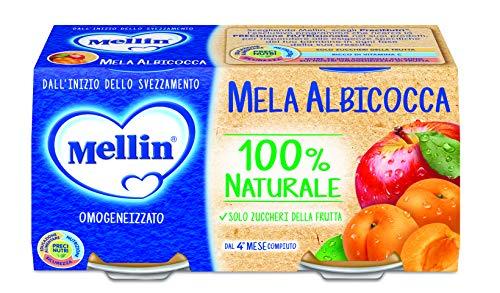 Mellin omogeneizzato di frutta mela albicocca 100% naturale - 24 vasetti da 100 gr