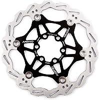 Rotor Freno de Disco Flotante 160mm 180mm + 6 Tornillos para MTB BMX Bicicleta de Montaña (negro, 180mm)