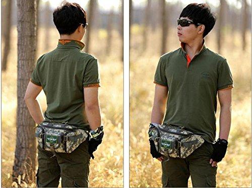 Zll/Outdoor grande tasca Crossbody Borse da tasca, trekking, corsa, Casual Petto Borse uomo borsa moda borsette, ACU ACU