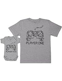 Player One & Player Two - Ensemble Père Bébé Cadeau - Hommes T-shirt & Body bébé