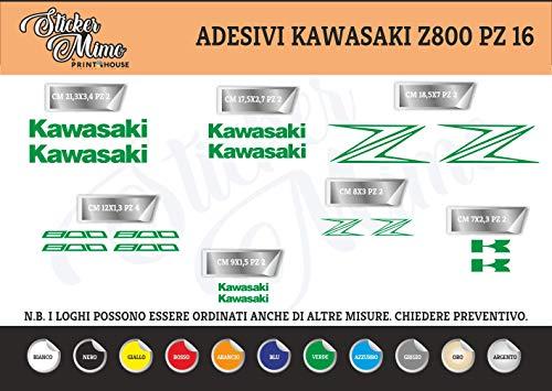 Generico Kawasaki Z800 Adesivi Stickers Moto Motorbike Casco (Verde)