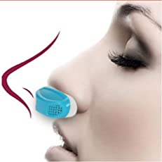 Buyerzone 2 in 1 Anti Snoring and Air Purifier Nose Clip for Prevent Snoring and Comfortable Sleep (Multi Color)