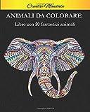 Animali da colorare con mandala: Libro da colorare per adulti con 50 fantastici animali con mandala. Libro antistress da colorare con disegni rilassanti