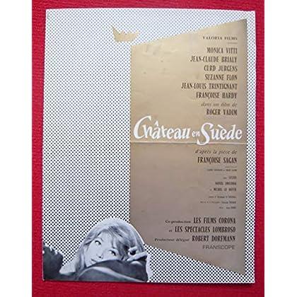 Dossier de presse de Château en Suède (1963) – 31x48cm, 4 p - Film de Roger Vadim avec M Vitti, J-C Brialy, C Jurgens– Photos N&B + résumé scénario – Léger accroc