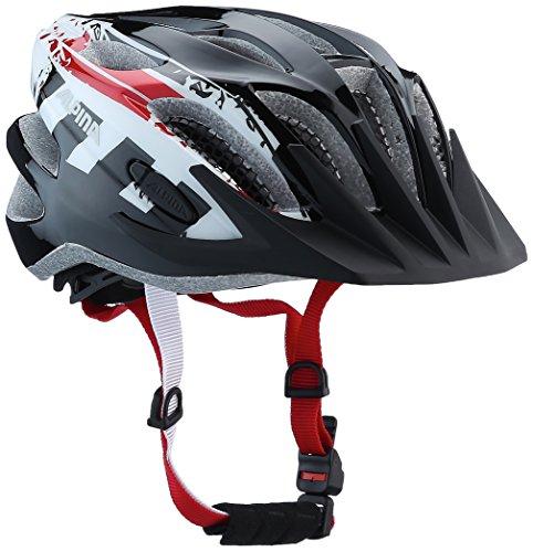 Alpina Jungen Fb Jr. 2.0 Fahrradhelm, Black-White-red, 50-55 cm -