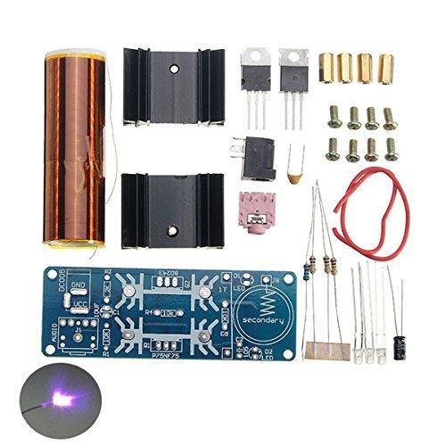 LaDicha Diy Mini Musik Tesla Coil Kit Dc 15-24 V 2A Zvs Plasma Horn Lautsprecher Einrohr (Led Tragbare Bogen)