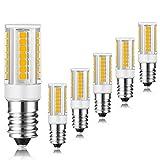 E14 lampadina LED, 3W 400LM, equivalente di lampadine alogene da 35W, Bianco Caldo 3000K, 360 Angolo a fascio, 6 Pack