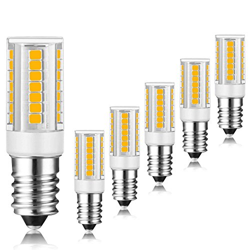 E14 bombilla LED, 6 unidades, 3 W, 400lm, equivalente a 35 W, color blanco color blanco 3000 K, LED Candelabra Bombilla, no regulable LED E14