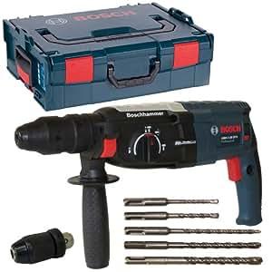 Bosch GBH2-28DFV SDS-Plus Marteau perforateur 850 W 3 J avec coffret L-Boxx taille 2 et lot de 5 forets SDS Plus