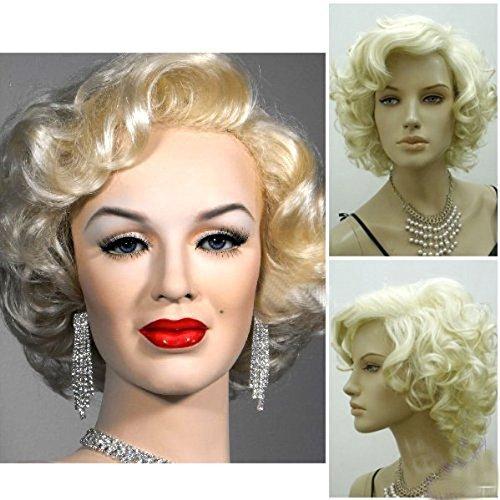 ke, Marilyn-Stil, kurz, gelockt, sexy Cosplay, Kostüm, Party, Hot Qualität, mit Kappe und Kamm ()