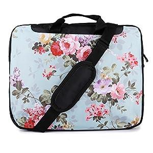 TaylorHe Funda para portátil (15″ / 40cm) bolso de bandolera para 15″-15,6″ Laptop con bolsillos laterales para accesorios, diseño de erizo, colorido