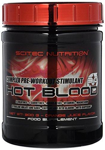 Scitec Nutrition Pre-workout  Hot Blood, Orange Juice, 300 g