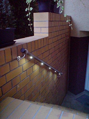 TREBA / FREWA Edelstahl-Handlauf-Set mit 1 Bewegungsmelder und LED-Beleuchtung, 1 Stück, L1