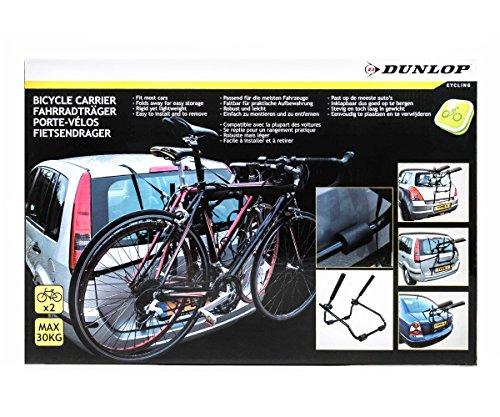 Bubble-Store Heckklappen-Fahrrad-Träger, alle Fahrzeugtypen, flexibel, platzsparend, Nutzlast max. 30 kg für 2 Fahrräder, Zubehör inklusive, Farbe Schwarz