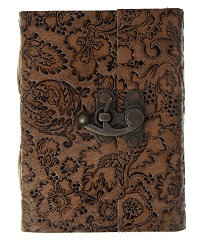 Craft Play Leather Flower Emboss Diary (10.5 Cm X 15 Cm X 3 Cm )