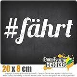 KIWISTAR #Fährt - läuft bei dir - Hashtag IN 15 FARBEN - Neon + Chrom! Sticker Aufkleber