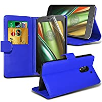 Samsung Galaxy J3 2017 case ( Blue ) Cover for Samsung Galaxy J3 2017 Wallet Case Durable Book Style PU Leather Wallet Elegant Classic Flip cover Case Skin Cover+ LCD Screen Protector Guard, Polishing Cloth Samsung Galaxy J3 2017 Wallet + FREE SCREEN PROT