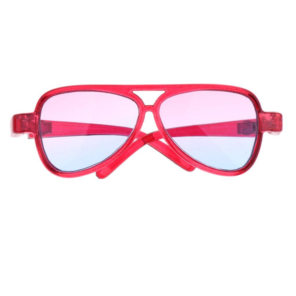 Sharplace Occhiali Specchio Montatura Ovale Moda Per 1/3 Bambola Accessori Plastica Regalo - Rosa Bl