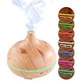 Carlo Milano Aroma Diffuser: Aroma-Diffusor & Luftbefeuchter, Holz-Optik, LED-Farbwechsler, 300 ml (Aromalampe)