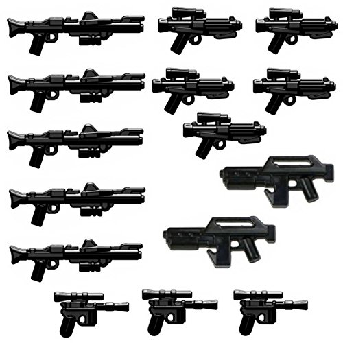15x Custom Blaster Waffen für Lego Star Wars Figuren - Star Lego Wars Custom