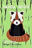 Cahier: avec une réglure seyès parfait pour la rentrée scolaire, fans et amateurs de panda roux