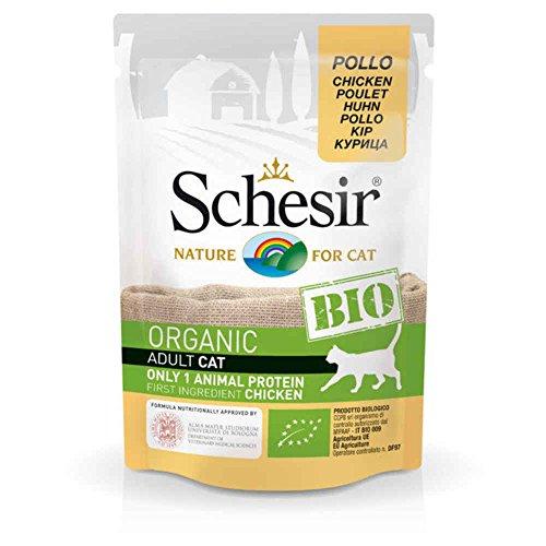 Schesir Beutel Frische Bio im Huhn für Katzen–85g