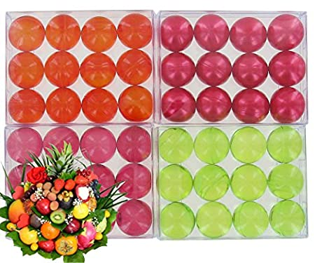 4 boxes of 12 bath pearls - Fruits batch