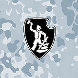 Aufkleber / Sticker sPzAbt 507 Schwere Panzer-Abteilung Tiger Panzer Schmied Wappen Sticker Aufkleber Taktische Zeichen Symbol 10x8cm #A653