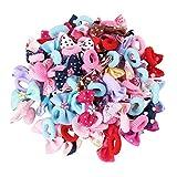 Candygirl - Elastici per capelli per bambine, graziosi fiocchi per capelli, elastici per coda di cavallo (50 design diversi)