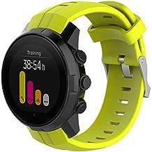 Gaddrt Bracelet de remplacement robuste et confortable pour montre en caoutchouc de luxe pour Suunto Spartan ultra Watch
