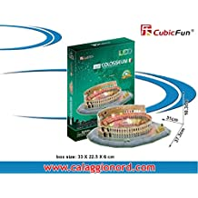 CubicFun LED 3D Puzzle Paper Model - The Colosseum (Italy), 185 pcs by Cubic Fun (English Manual)