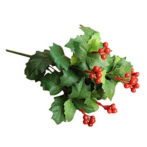 COLORFUL Gefälschte künstliche Blatt Frucht Granatapfel Beeren Bouquet Floral Garten Home Decor (B)